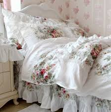 shabby chic bedding sets design ideas white bedding fl prints s jennisteele