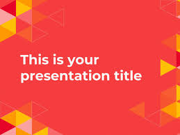 powerpoint them free powerpoint template or google slides theme with triangles pattern