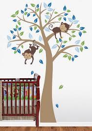 monkey wall decals nursery monkeys nursery wall decal tree wall decal tree