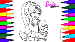 Barbie Fashionistas Best Learning Coloring Book L Pages For