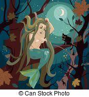 Resultado de imagem para sereia se penteando ilustração
