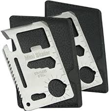 11 in 1 <b>Multi</b>-<b>Functional Stainless</b> Steel Credit Card Survival <b>Outdoor</b> ...