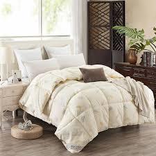Goose Down Quilt Blanket Duvet for Winter/Summer White Cotton ... & Goose Down Quilt Blanket Duvet for Winter/Summer White Cotton Cover Comforter  King Queen Twin Adamdwight.com