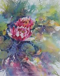 lian quan zhen waterlily watercolour