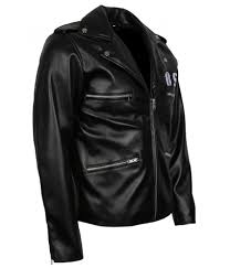 bsa george micheal faith revenge rockers embroidered black biker leather jacket costume