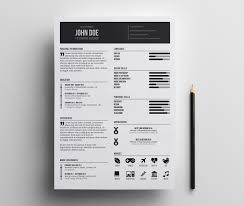 Free Minimal Resume Template Minimalist Simple Clean Indesign
