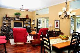 Kitchen And Dining Room Layout Busy Cozy Homey Living Room Den Dining Kitchen Combo Area Open