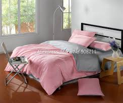 119 best NEVRESÄ°M TAKIMLARI images on Pinterest   Blue flowers ... & Satin Drill Good cotton twill duvet quilt covers Pink Gray Bi-color solid  pattern King bedding sets with flat sheets Adamdwight.com