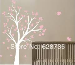 large size 180cmx130cm vinyl tree and birds wall sticker beautiful tree wall decals for baby children room decor in wall stickers from home garden on  on tree wall art for baby nursery with large size 180cmx130cm vinyl tree and birds wall sticker beautiful