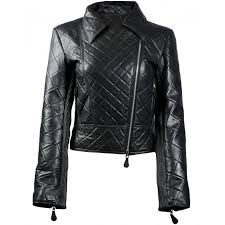 Womens Biker Jacket | Quilted Black Leather Jacket & Womens Black Leather Quilted Biker Jacket Adamdwight.com