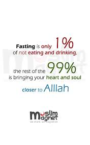 Fasting Quotes Awesome Muslimagnet Fasting Is Only 48% Of Not Eating Best Islamic