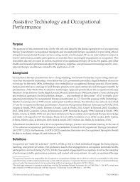 assistive technology and occupational performance american  first page pdf preview