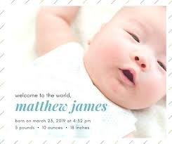 Sample Baby Announcement Baby Birth Announcement Template Diagonal Stripes Birth Announcement