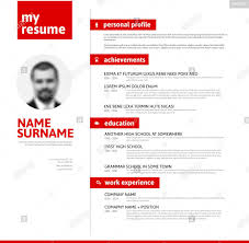 Vector Minimalist Cv Resume Template With Nice Typogrgaphy Design