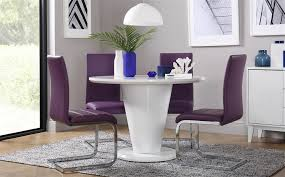 image is loading paris white high gloss round dining table and