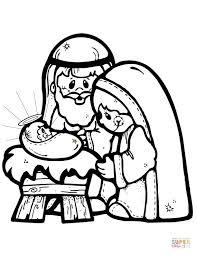 Fun Coloring Pages Nativity Scene Coloring Page Free Printable