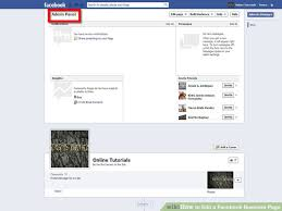 image led edit a facebook business page step 1