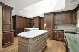 image of hardwood floor and kitchen cabinet combinations island