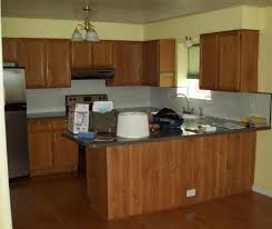 image of popular kitchen colors with oak cabinets