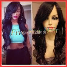 Sew In Hairstyles Long Hair Long Black Hairstyles With Side Bangs Long Sew In Hairstyles With