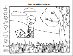 Find it! Spring Hidden Picture Worksheets - Mamas Learning Corner