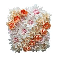 This decorative flower will be the perfect addition to your home décor. Buy The Coral Dahlia Rose Hydrangea Floral Mat By Ashland At Michaels Com Simple Yet Chic This Floral Spring Flower Decor Paper Flowers Paper Wreath Diy