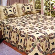Black Bear King Quilt Set: Cabin Place & Black Bear King Quilt Set Adamdwight.com