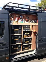 box van shelving ideas a work storage tool truck work van storage ideas