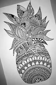 pineapple drawing. imagini pentru mandala drawing. pineapple drawing