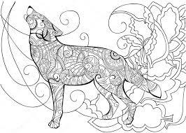Kleurplaat Wolf