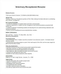 Veterinary Receptionist Resume Gorgeous Medical Office Receptionist Resume 48 Receptionist Resume Templates