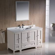 antique white bathroom cabinets. fresca oxford 54-inch antique white traditional bathroom vanity with 2 side cabinets a