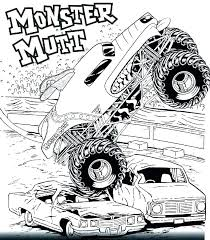 Grave Digger Coloring Page Monster Trucks Coloring Pages Printable
