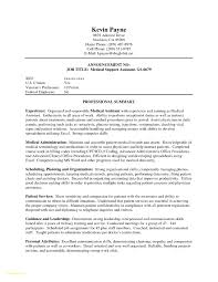Medical Assistant Resume Samples No Experience Fresh Sample With