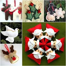 diy xmas decoration felt ornament from template diy holiday decorations on a budget