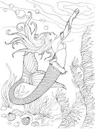 Beautiful Mermaid Coloring Pages For Adults Or Creative Haven