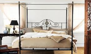 Iron Canopy Bed Queen Wrought Iron Canopy Bed Frames Restoration ...