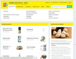 chemical free skincare codecheck
