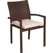 wicker stacking chair. Contemporary Chair Atlantic Liberty Resin Wicker Stacking Patio Dining Arm Chairs  Set Of 4 In Chair