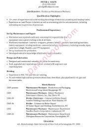 more resume help maintenance resume samples