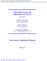 Algorithm Design Solution Manual Goodrich Data Structures And Algorithms In Java 6th Edition Goodrich