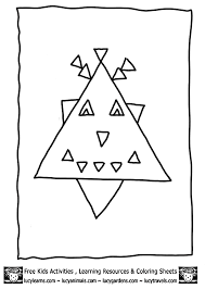 Small Picture Coloring Pages for Kids Triangle Shape Coloring Page for Kids