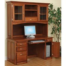 1135 computer desk and hutch with glass doors