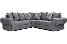malmo grey fabric corner sofa