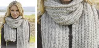 Ribbed Scarf Pattern Best Grey Mist Knitted Ribbed Scarf [FREE Knitting Pattern]