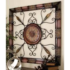 old world metal wall decor with fl