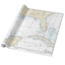 Gulf Coast Nautical Charts Nautical Florida Gulf Of Mexico Mariners Chart Wrapping Paper