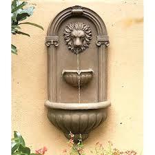 interesting wall fountain outdoor garden wall mounted fountain outdoor garden water fountains images about