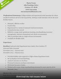 Good Resume Examples Retail How To Write A Perfect Retail Resume Examples Included