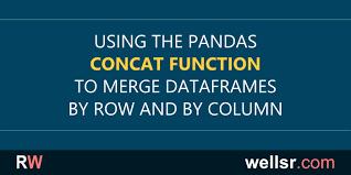 using pandas concat to merge dataframes